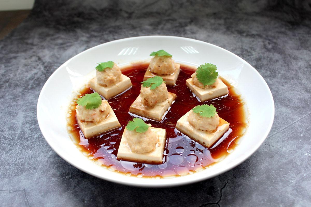 電鍋料理,電鍋料理食譜,蝦仁鑲豆腐