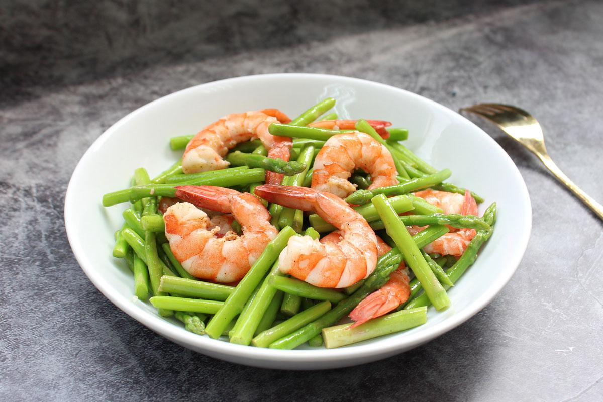電鍋料理,電鍋料理食譜,電鍋料理減肥,蘆筍蝦仁