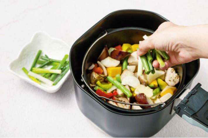 香草鹽時蔬,氣炸鍋料理,減醣料理,減醣食譜